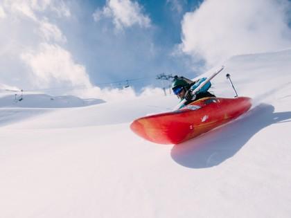 SnowKayaking en Piau-Engaly (Pirineos)